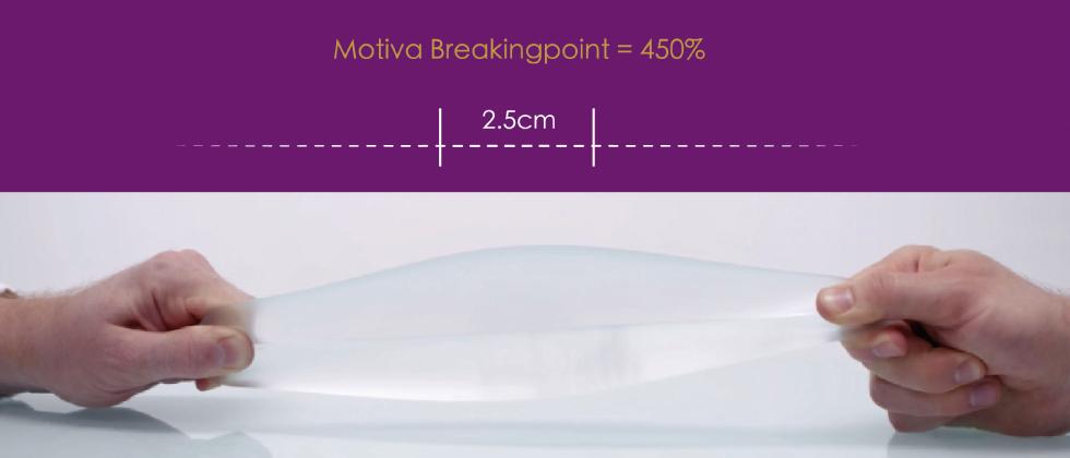 TrueMonobloc高彈力外層膜,能使拉伸程度增大,醫師能以最小的傷口放入植入物,讓疤痕更隱形。