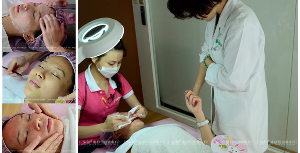 盧醫師親切地詢問,艾地苯換膚過程有沒有不舒適的地方?