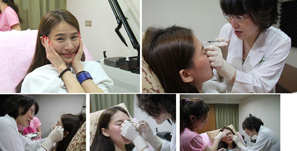 盧靜怡院長在治療時都會透過輕輕按壓肌膚、隨時評估與微調注射的狀況