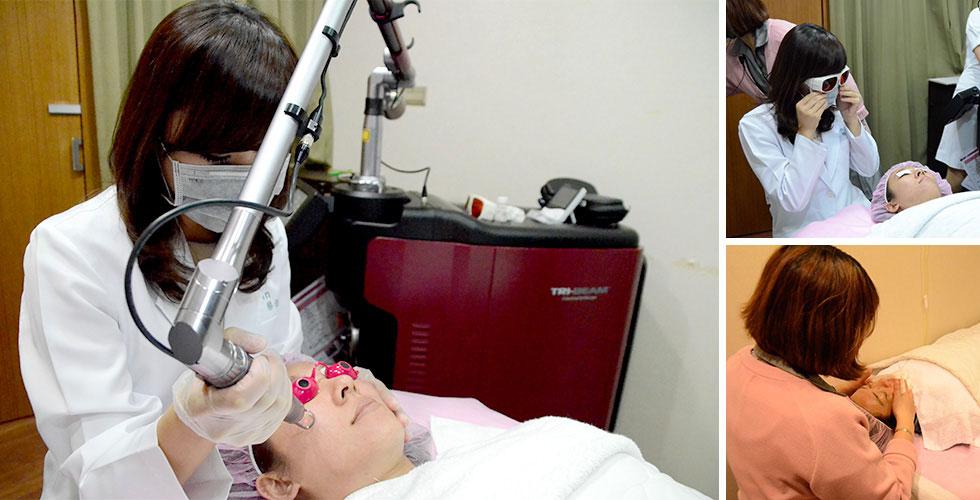 蔡佳芬醫師操作▲美容師會幫您在治療後護膚