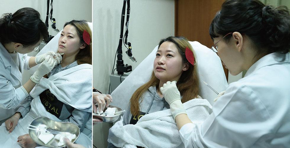 有看到我握緊的拳頭嘛!?怕痛如我,幸好盧醫師的技術超好,只有稍微痠痠的感覺哦。