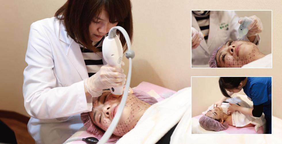 治療時,好在陳醫師很細心,讓第一次做電波的我感到安心不少