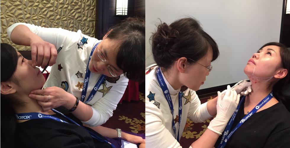 治療時,除了仔細地畫上記號外,盧院長也一直用她精準的針法幫我注射,其實不能說不痛,畢竟是打針,但因為又快又準,所以很快地就解決這場硬仗了