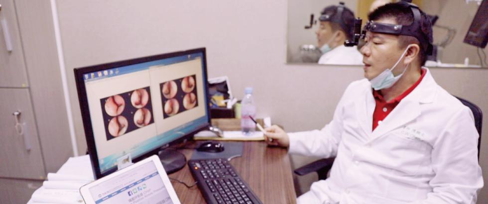 經過內視鏡檢查後,陳醫師非常細心的跟我說明,是因為下鼻甲肥大跟鼻中隔彎曲導致鼻塞、呼吸不順。