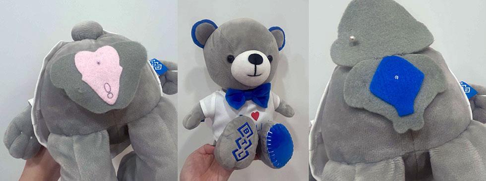 護理師還細心的用可愛小熊解說G28對男生、女生不同的好處。