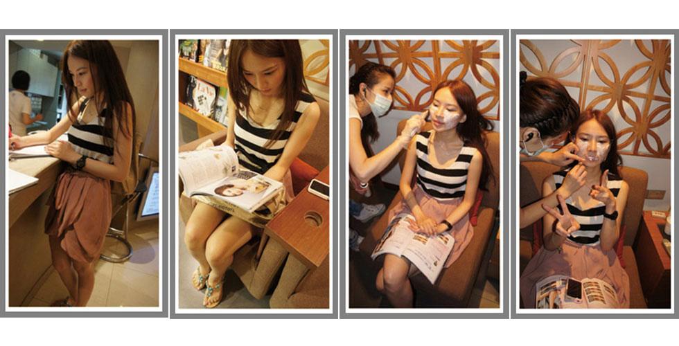 Patty賴珮鈺是活躍於各大展場與廣告CF界的人氣Model,常接拍美妝廣告的她,需要維持連素顏都完美的狀態